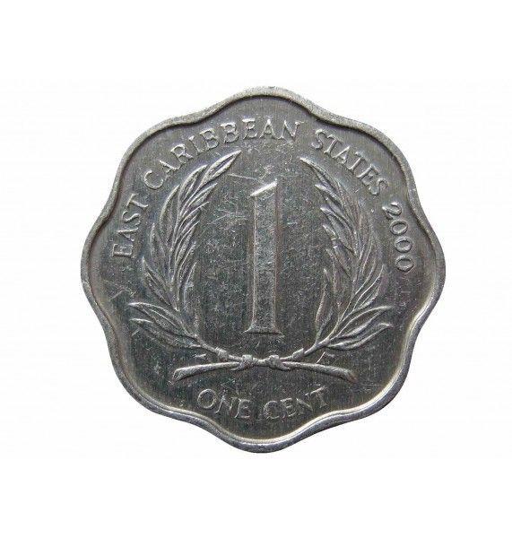 Восточно-Карибские штаты 1 цент 2000 г.