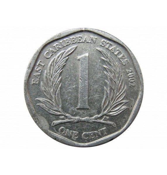 Восточно-Карибские штаты 1 цент 2002 г.
