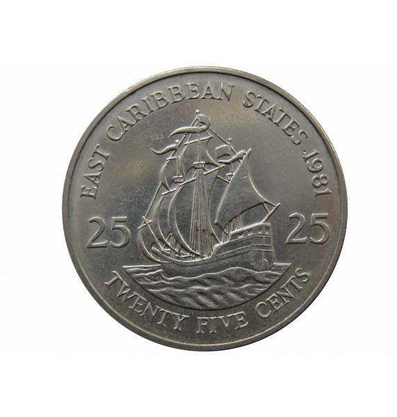 Восточно-Карибские штаты 25 центов 1981 г.