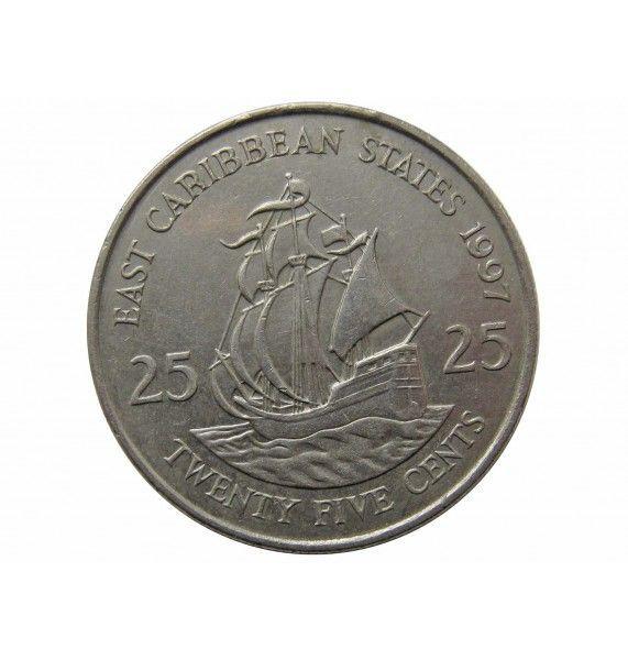 Восточно-Карибские штаты 25 центов 1997 г.