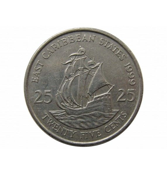 Восточно-Карибские штаты 25 центов 1999 г.
