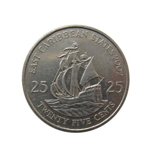 Восточно-Карибские штаты 25 центов 2002 г.