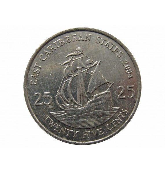 Восточно-Карибские штаты 25 центов 2004 г.