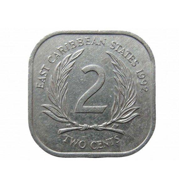 Восточно-Карибские штаты 2 цента 1992 г.
