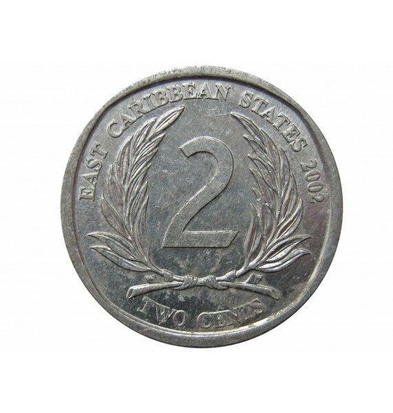 Восточно-Карибские штаты 2 цента 2002 г.