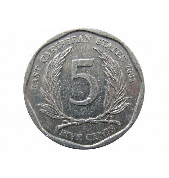 Восточно-Карибские штаты 5 центов 2002 г.