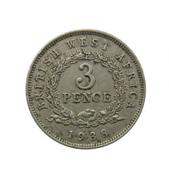 Британская Западная Африка 3 пенса 1938 г. KN