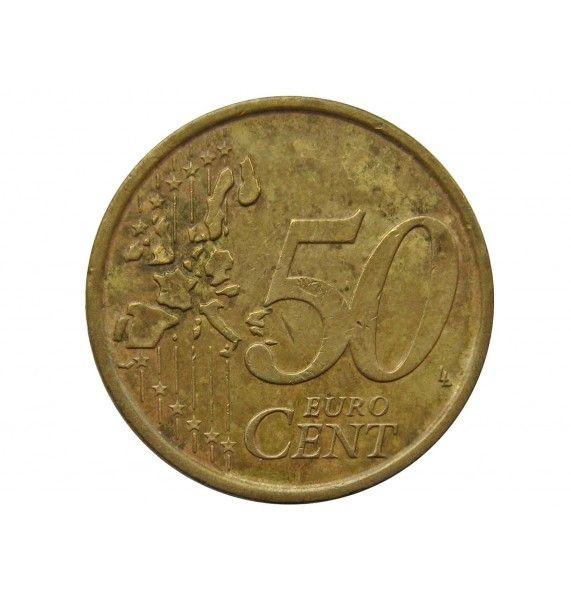 Италия 50 евро центов 2002 г.