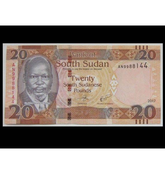 Южный Судан 20 фунтов 2017 г.