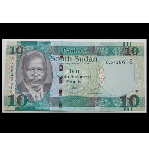 Южный Судан 10 фунтов 2016 г.
