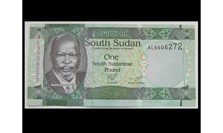Южный Судан 1 фунт 2011 г.