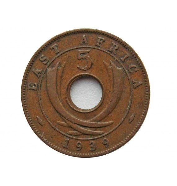 Британская Восточная Африка 5 центов 1939 г. KN