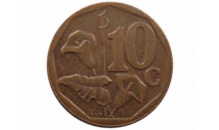 Южная Африка 10 центов 2014 г.