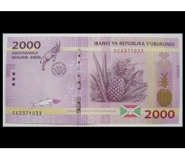 Бурунди 2000 франков 2015 г.