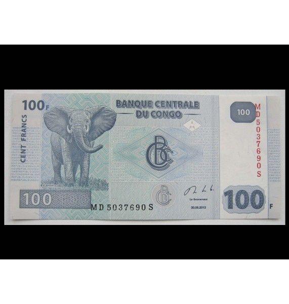 ДР Конго 100 франков 2013 г.