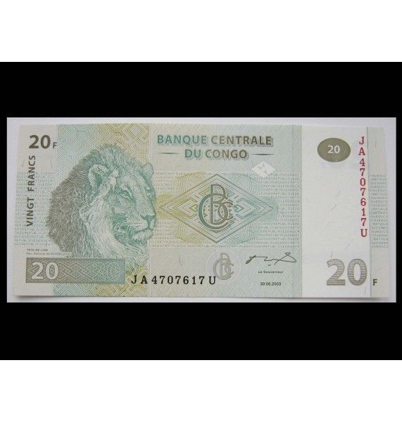 ДР Конго 20 франков 2003 г.