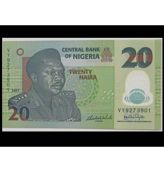 Нигерия 20 найра 2007 г.
