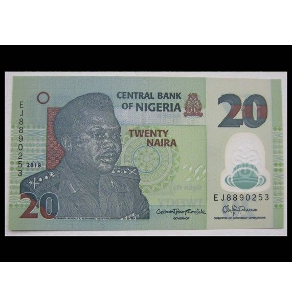 Нигерия 20 найра 2018 г.