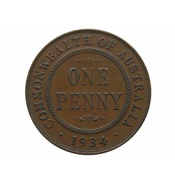 Австралия 1 пенни 1934 г. (m)