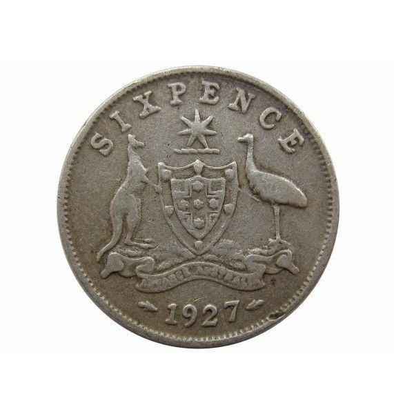 Австралия 6 пенсов 1927 г.