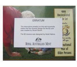 Австралия годовой набор 1999 г.