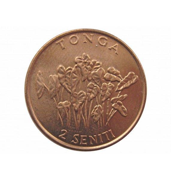 Тонга 2 сенити 2002 г.
