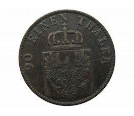Пруссия 4 пфеннига 1868 г. С