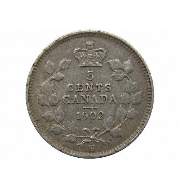 Канада 5 центов г. 1902 H