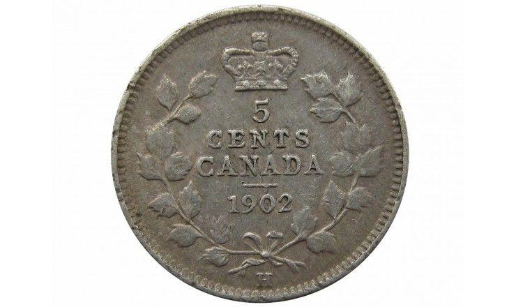 Канада 5 центов 1902 г. H