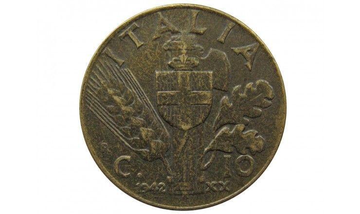 Италия 10 чентезимо 1942 г.