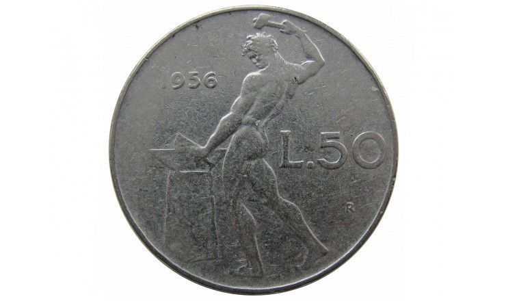 Италия 50 лир 1956 г.