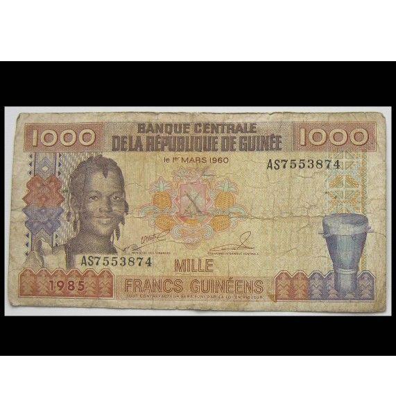 Гвинея 1000 франков 1985 г.