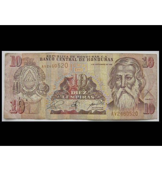 Гондурас 10 лемпир 1998 г.