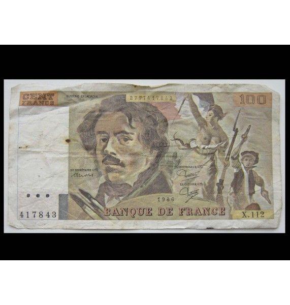 Франция 100 франков 1986 г.