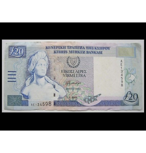 Кипр 20 фунтов 2004 г.