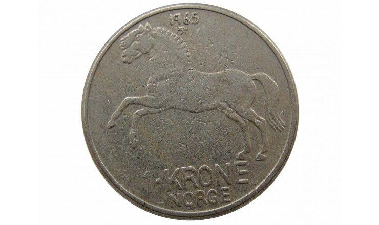 Норвегия 1 крона 1965 г.