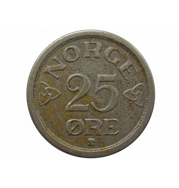 Норвегия 25 эре 1955 г.