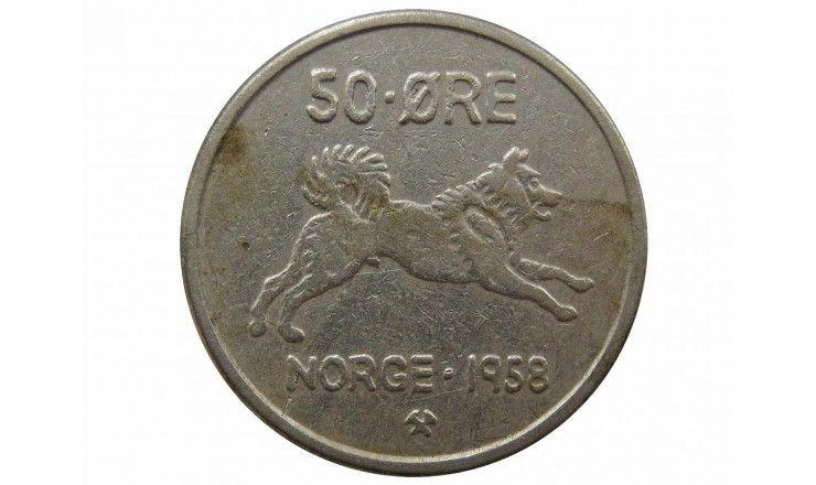 Норвегия 50 эре 1958 г.