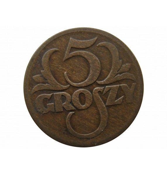 Польша 5 грошей 1928 г.