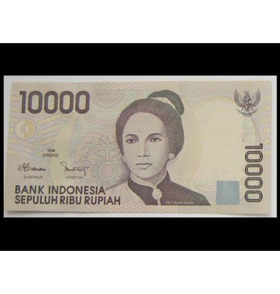 Индонезия 10000 рупий 1998 г.