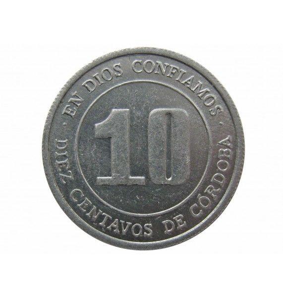 Никарагуа 10 сентаво 1974 г.