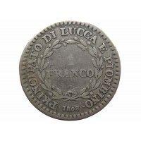 Лукка 1 франк 1808 г.