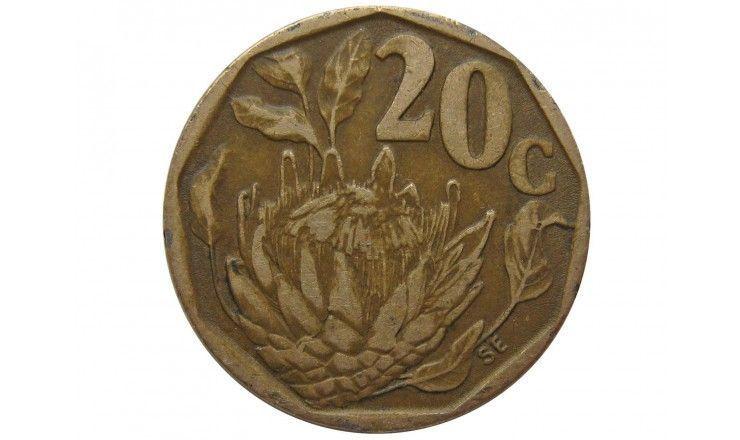 Южная Африка 20 центов 1993 г.