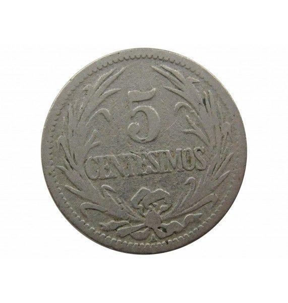 Уругвай 5 сентесимо 1901 г.