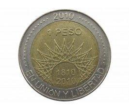 Аргентина 1 песо 2010 г. (Мар-дель-Плата)