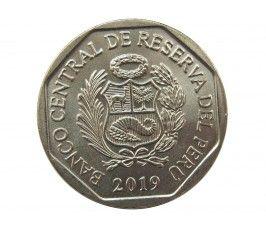 Перу 1 новый соль 2019 г. (Желтохвостая обезьяна)