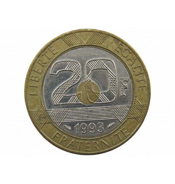 Франция 20 франков 1993 г. (Замок Мон-Сен-Мишель)