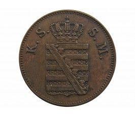 Саксония 2 пфеннига 1856 г.