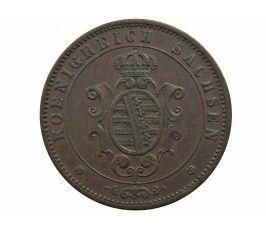 Саксония 5 пфеннигов 1863 г.