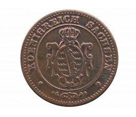 Саксония 2 пфеннига 1862 г.